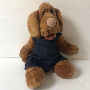 "Ganz Bros plush puppet puppy Wrinkles 18"""